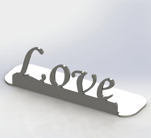 """Aufsteller - """"Love"""""""